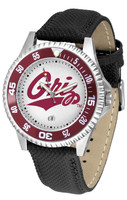 Montana Grizzlies Competitor Leather Watch White Dial