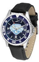 North Carolina Tar Heels 2017 NCAA National Basketball Champions Competitor AnoChrome - Color Bezel Leather Watch