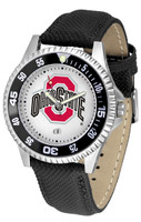 Ohio State Buckeyes Competitor Leather Watch White Dial
