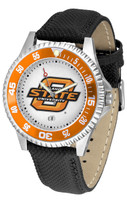 Oklahoma State Cowboys Competitor Leather Watch White Dial