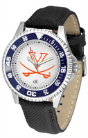 Virginia Cavaliers Competitor Leather Watch White Dial