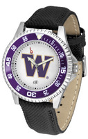 Washington Huskies Competitor Leather Watch White Dial