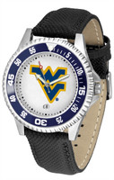 West Virginia Mountaineers Competitor Leather Watch White Dial