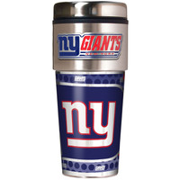 New York Giants 16oz Travel Tumbler with Metallic Wrap Logo