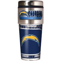 San Diego Chargers 16oz Travel Tumbler with Metallic Wrap Logo