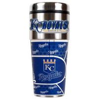 Kansas City Royals 16oz Travel Tumbler with Metallic Wrap Logo