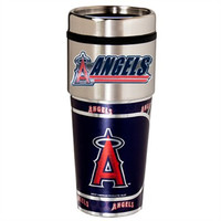 Los Angeles Angels 16oz Travel Tumbler with Metallic Wrap Logo