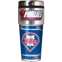 Philadelphia Phillies 16oz Travel Tumbler with Metallic Wrap Logo