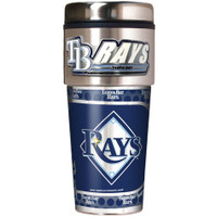 Tampa Bay Rays 16oz Travel Tumbler with Metallic Wrap Logo