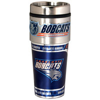 Charlotte Bobcats 16oz Travel Tumbler with Metallic Wrap Logo