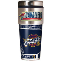Cleveland Cavaliers 16oz Travel Tumbler with Metallic Wrap Logo