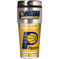 Indiana Pacers 16oz Travel Tumbler with Metallic Wrap Logo