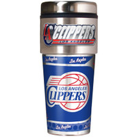 Los Angeles Clippers 16oz Travel Tumbler with Metallic Wrap Logo