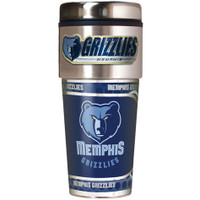 Memphis Grizzlies 16oz Travel Tumbler with Metallic Wrap Logo