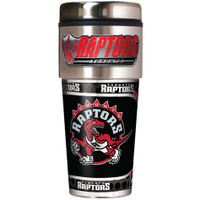 Toronto Raptors 16oz Travel Tumbler with Metallic Wrap Logo