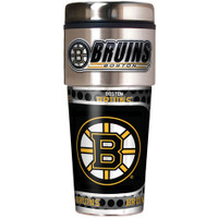 Boston Bruins 16oz Travel Tumbler with Metallic Wrap Logo