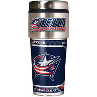 Columbus Blue Jackets 16oz Travel Tumbler with Metallic Wrap Logo
