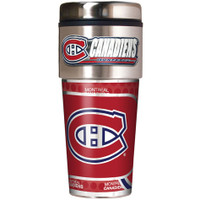 Montreal Canadiens 16oz Travel Tumbler with Metallic Wrap Logo