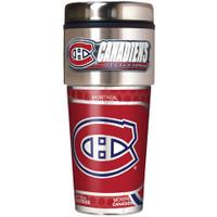Montreal Canadiens 16oz Travel Tumbler with Metallic Wrap Logo