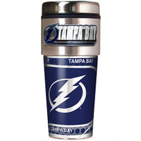 Tampa Bay Lightning 16oz Travel Tumbler with Metallic Wrap Logo