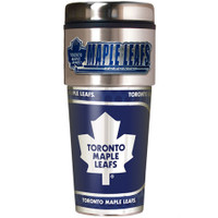 Toronto Maple Leafs 16oz Travel Tumbler with Metallic Wrap Logo