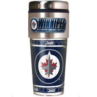Winnipeg Jets 16oz Travel Tumbler with Metallic Wrap Logo