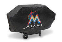 Miami Marlins Deluxe Barbecue Grill Cover