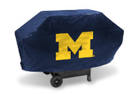 Michigan Wolverines Deluxe Barbecue Grill Cover