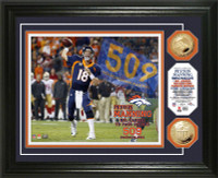 "**Denver Broncos Peyton Manning 509 ""TD"" Record Photo Mint LE 2014"