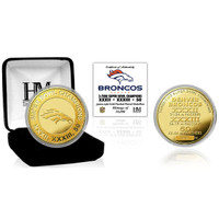***Denver Broncos Super Bowl 50 Champions 3-Time Champions Gold Coin LE