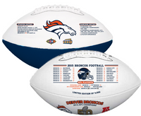 ***Denver Broncos Super Bowl 50 Champions Wilson Leather Football LE