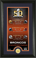 ***Denver Broncos 50th Anniversary 3X Super Bowl Champions Supreme Photo Mint Framed LE