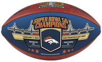 Denver Broncos Super Bowl 50 Gold Champions Color Panel Wilson Leather Football LE