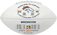 **Denver Broncos 3-Time Super Bowl Champions Leather Football LE 5000