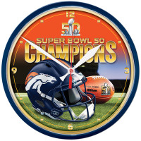*Denver Broncos Super Bowl 50 Champions Round Wall Clock