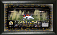 **Denver Broncos Super Bowl 50 Champions Celebration Team Signature Grid Framed LE