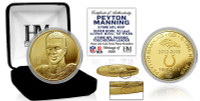 "Peyton Manning ""Retirement"" Gold Mint Coin w/Case LE"