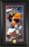 "Peyton Manning Denver Broncos ""Retirement"" Bronze Coin Photo Mint Framed LE"