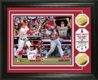"Los Angeles Angels Mike Trout ""Back to Back MLB All-Star Game MVP"" Gold Coin Photo Mint LE 5000"