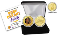 Kobe Bryant Los Angeles Lakers Color Coin Set w/Case LE 5000