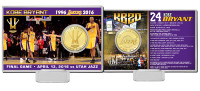 "Kobe Bryant Los Angeles Lakers ""Final Season"" Bronze Coin Card LE 5,000"