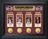 Cleveland Cavaliers 2016 NBA Champions Deluxe Gold Coin & Ticket Collection LE 1,000