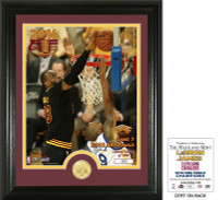 "Cleveland Cavaliers 2016 NBA Champions Lebron James ""Block GM 7"" Bronze Coin Photo Mint LE"
