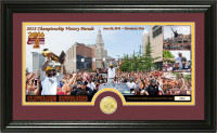 "Cleveland Cavaliers 2016 NBA Champions ""Parade"" Bronze Coin Pano Photo Mint LE"