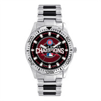 Chicago Cubs 2016 MLB World Series Silver Watch