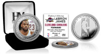 LeBron James Silver Color Coin w/Case LE