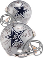Dallas Cowboys Autographed Legends Riddell Pro Line Helmet With 22 Signatures - Limited Edition of 39
