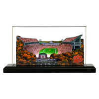 "Clemson Tigers 9"" x 4"" Light Up Stadium with Display Case"