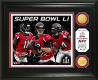 Atlanta Falcons 2016 NFC Champions Player Signature Super Bowl LI 2pc Bronze Coin Photo Mint LE 5000