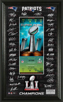 New England Patriots  Super Bowl LI Champions Signature Ticket Framed LE 5000